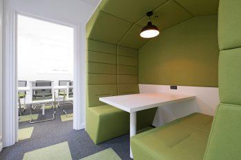 green tiles matching pod