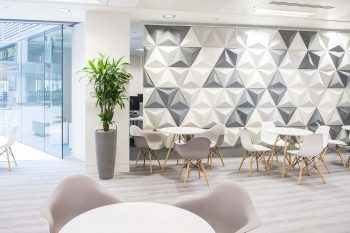 Great Office Design With Momenta Argento Vinyl Flooring