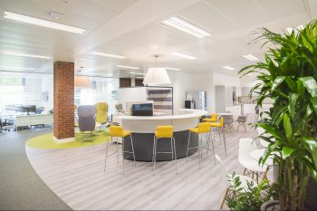 Open plan office with Momenta Argento