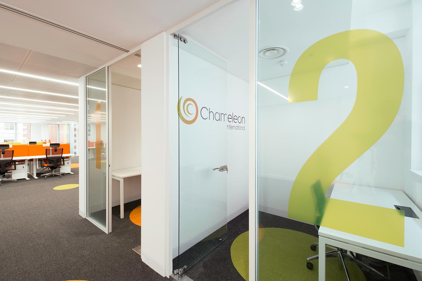 office using flooring to match brand identity