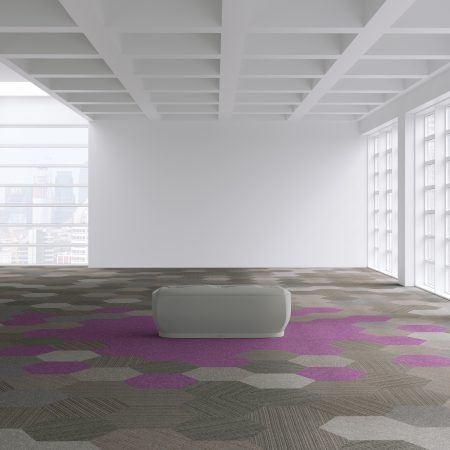 Hexagon carpet tiles