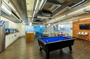 Playful design image pool table and Duraflor Axis on floor