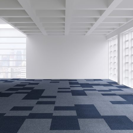 Workplace Blue Shimmer carpet tile