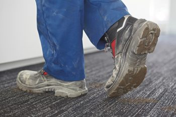 Using entrance matting for protection for office flooring