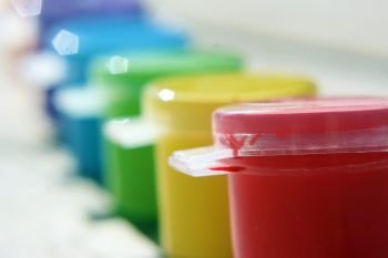 Colour paint pots