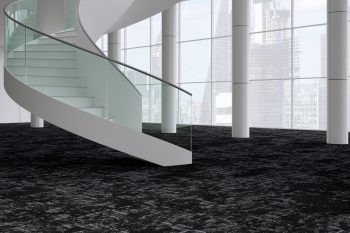 Escarpment black carpet tile example