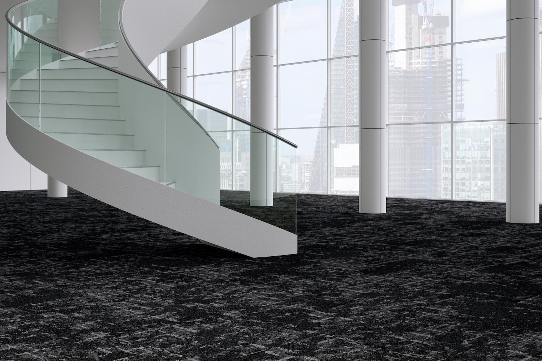 Escarpment black carpet tile example
