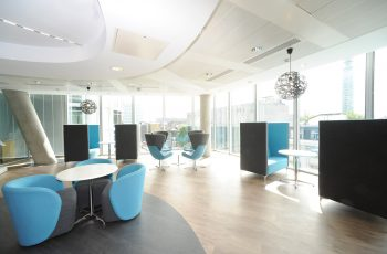 Vinyl flooring helping the flow of an office