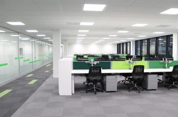Trend carpet tiles case study. Shows an inclusive workplace design approach.