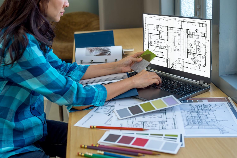Interior Designer working from home