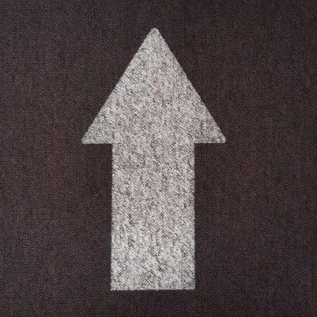 Social distancing tile grey arrow