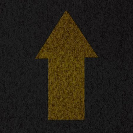 5350 CREATE SD - a yellow arrow on charcoal coloured background