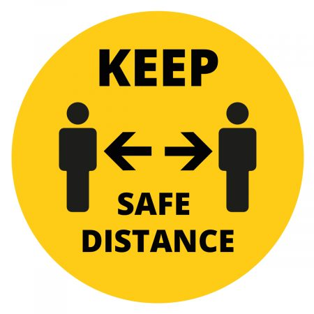 Keep your distance vinyl floor sticker