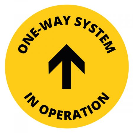 One way system arrow