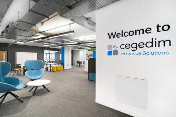 reception area open plan office furniture matching brand