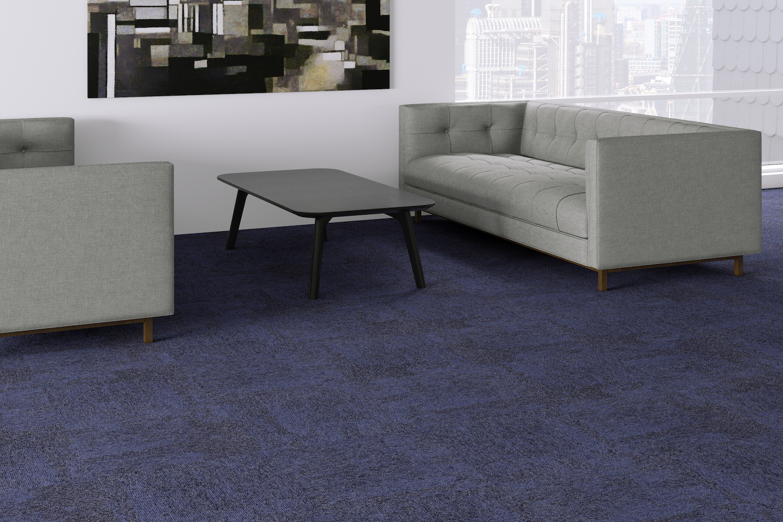 Example of Circular Design Flooring Cubism in Office