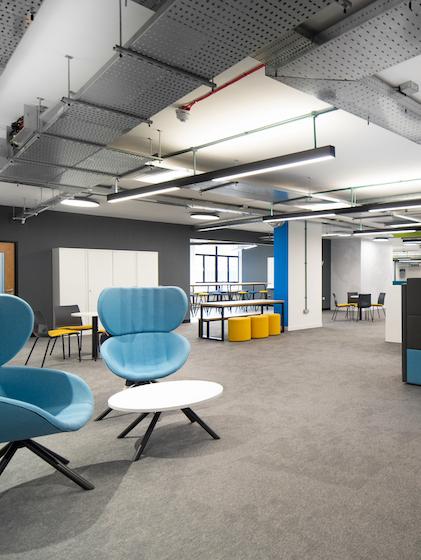 Cegedim Workspace with Blizzard Flooring