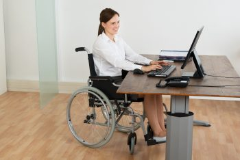 Ideal flooring for wheelchair access - office with vinyl floor