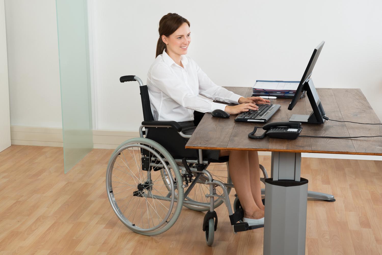Ideal flooring for wheelchair access - office with vinyl floor